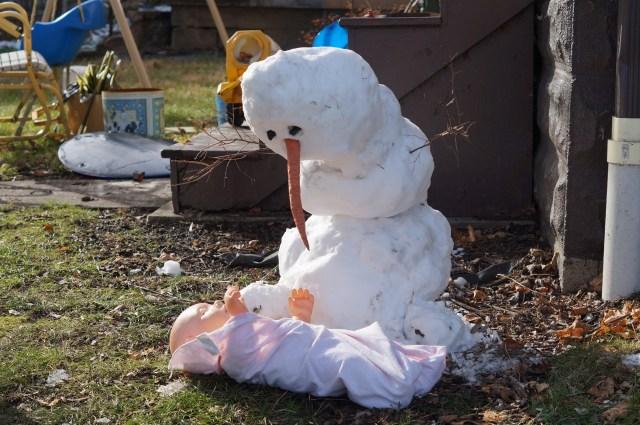 Olaf Meets Baby Jesus