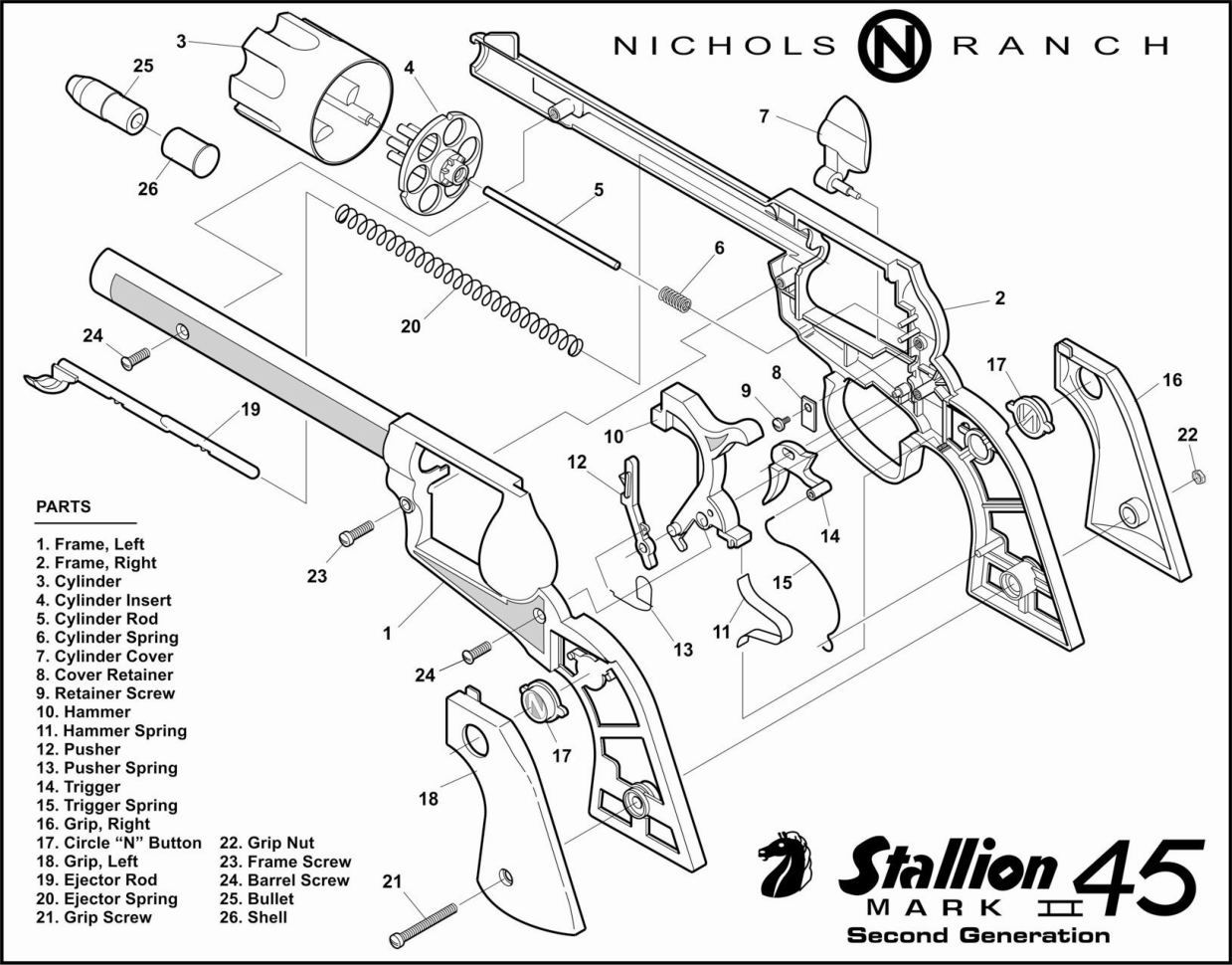 Nichols Stallion 45 Mk Ii Cap Guns And Varieties Of