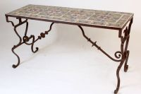 Wrought iron patio table with Spanish tiles - Nicholson ...
