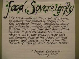 Food Sovereignty - Nyeleni Declaration