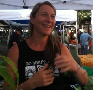 Sam Mihelffy at her Coffs Coast Growers Market stall