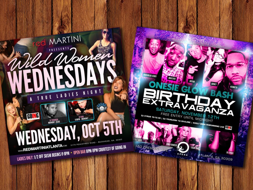 Legacy Parties - Going In Promotions Club E-flyer Design - Social Media