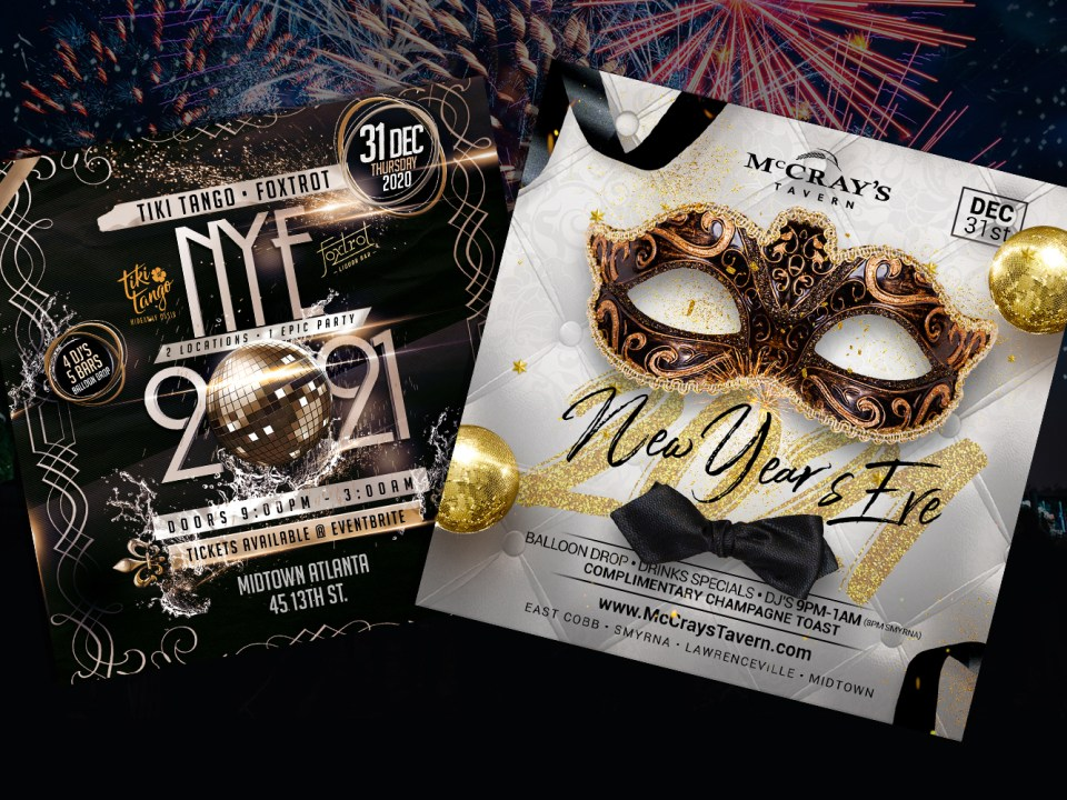 New Year's Eve 2021 Flyer Design