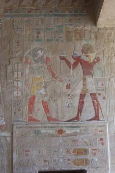 Coloured hieroglyphics at Hatshepsut