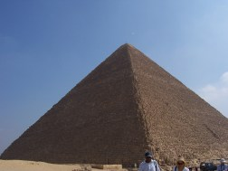 The Great Pyramid. Also called the Pyramid of Khufu and the Pyramid of Cheops