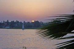 Sunset over the Nile, taken from the hotel pool.