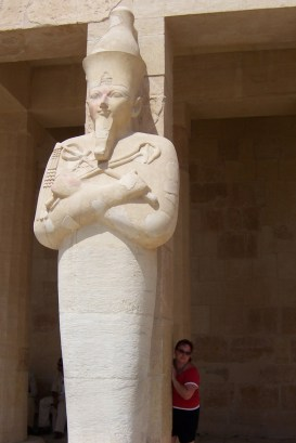 Sam at Hatshepsut