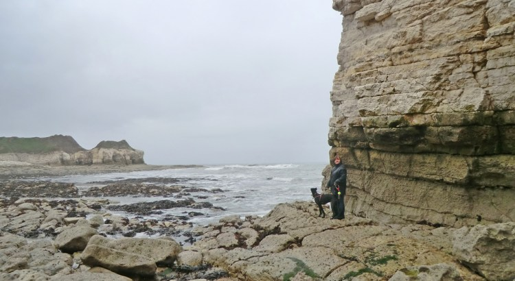 Sam and Nelson at Thornwick caves