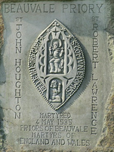 Martyrs headstone of St John Houghton and St Robert Lawrence