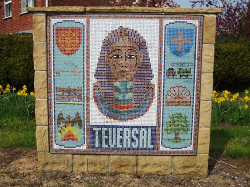 Mosaic at Teversal village entrance