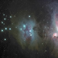 The Running Man Nebula and Great Orion Nebula