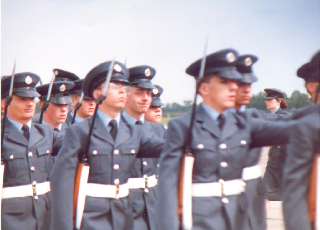 There's always one tit that smiles...me. No: 10 Flight marching at Pass Out Parade