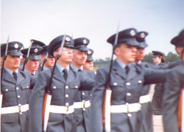 No: 10 Flight marching at Pass Out Parade, August 10 1988