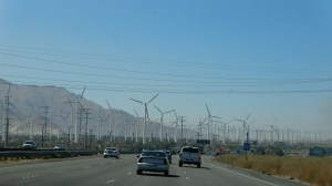 San Gorgonio Pass Wind Farm. This is about the only interesting thing on the drive from Phoenix to L.A. It's also the worlds most straightest and boring road.