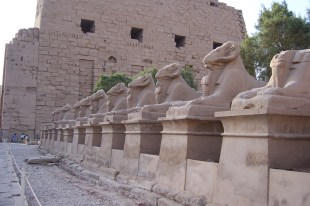 Avenue of ram headed sphinxes. This would connect Karnak Temple to Luxor Temple.