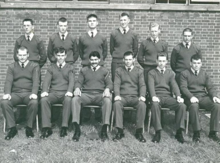 RAF St Athan 1988. Painter & Finisher trade training flight 195. Front row, second from right aged 17