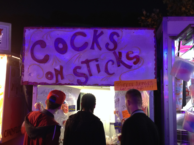 Cocks on Sticks
