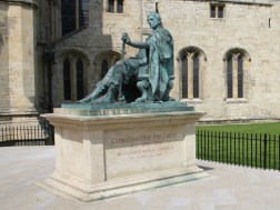 Constantine The Great at York Minster. He was proclaimed Roman emperor near here in 306.