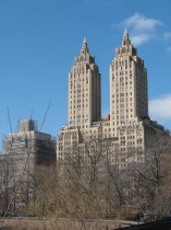 The Eldorado building on Central Park West viewed from Central park