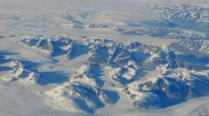 Not exactly America, but we flew over Greenland on the way. It looks stunning,