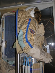 How to get inside the Orlan spacesuit and backpack.