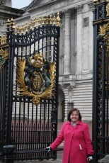 Sam at Buckingham Palace.