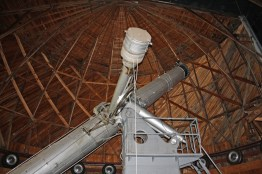 Side view of the Clark telescope at Lowell Obseravtory