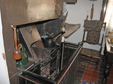 Working stove in the kitchen