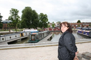 Sam at Stratford upon Avon lock