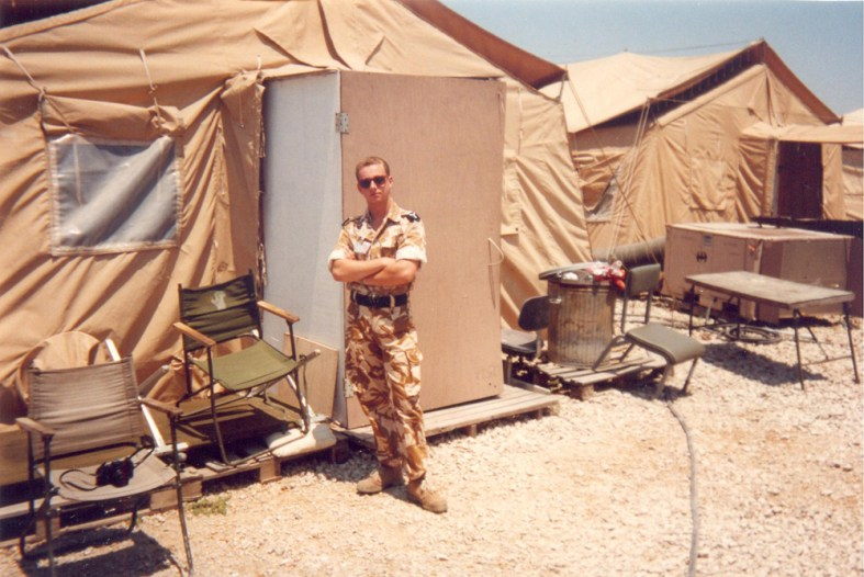 "Incirlik Airbase, Turkey 1993. Outside our tent in ""Tent City"". Hundreds of tents .... but very good times"