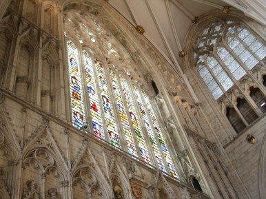 West window stained glass in York Minster. This is all you will see for free.