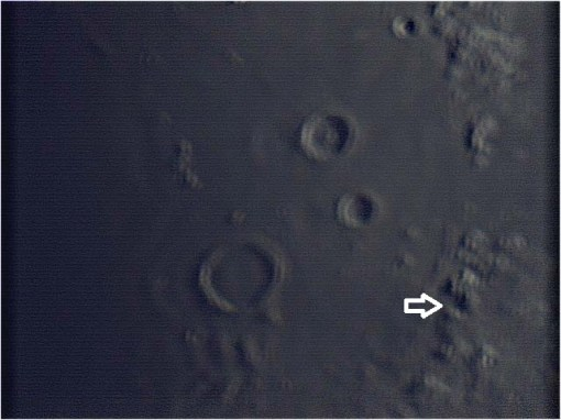 Apollo 15 landing area. Webcam stacked image.