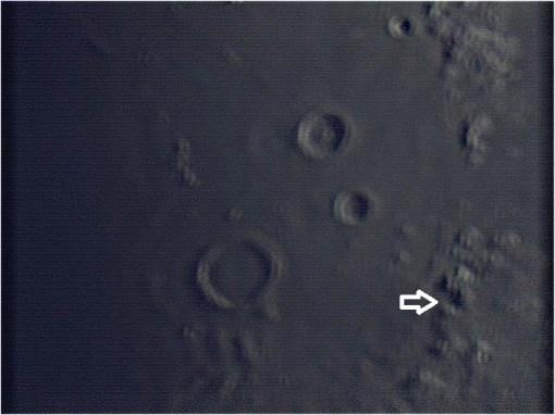 Apollo 15 landing area. Webcam stacked image.