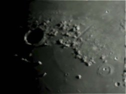 Plato Crater and Valles Alpes (valley) on the edge of Mare Imbrium.