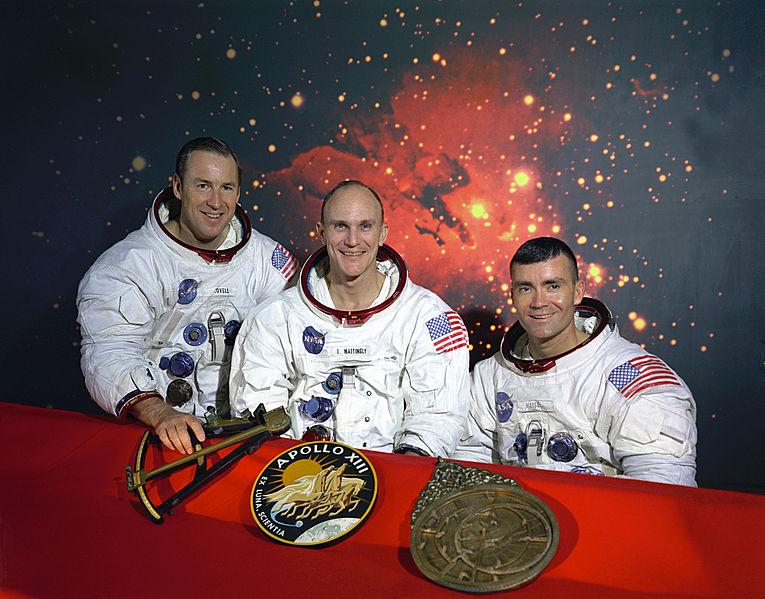 The original Apollo 13 crew of Lovell, Mattingly, Haise.