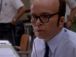 Clint Howard portraying Sy Liebergot in the film of Apollo 13.