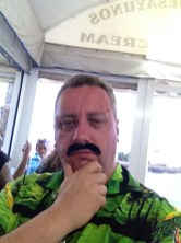 The Stag, me, with my Spanish 'tache and gorgeous shirt.
