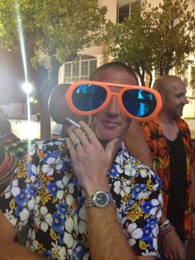 Some argued that the Best Man's sunglasses were more ridiculous than his shirt.