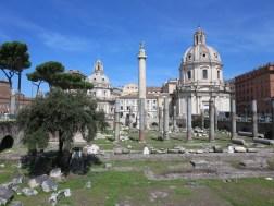 The Basilica Ulpia, Column of Trajan in the Forum of Trajan.