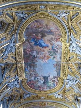 Ceiling art in Chiesa Nuova Santa Maria in Vallicella
