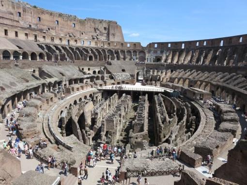 Colosseum arena floor.