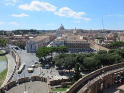 View of St Peters from Castel Sant'Angelo.