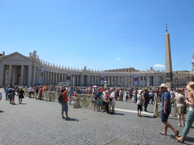 Unbelievable queue snaking around St Peters Square.