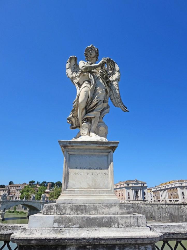 A stucco angel on Ponte Sant'Angelo.