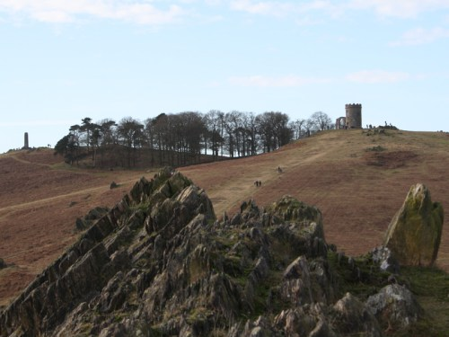 Old rocks and Old John, Bradgate Park in Leicestershire.