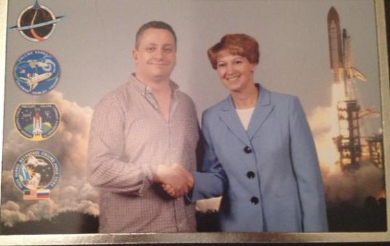Nick Cook with Eileen Collins