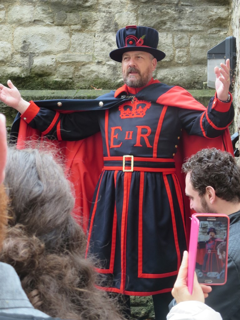 Yeoman Warder, a Beefeater, at the Tower of London.