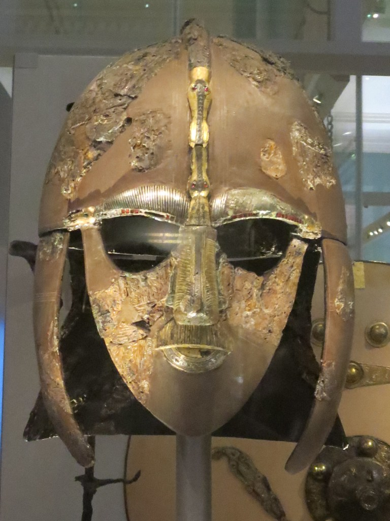 The Sutton Hoo helmet.