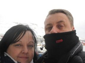 Mr and Mrs Cook aboard the Kong harald
