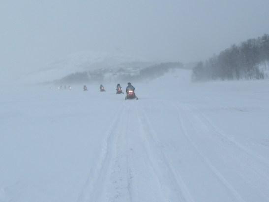 Snowmobiling in Kirkenes